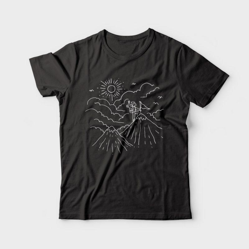 Mountain Hiker buy t shirt design