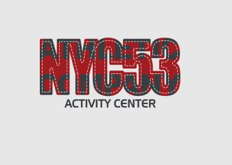 NYC53 Activity Center buy t shirt design
