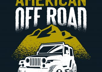 American Off Road t shirt template