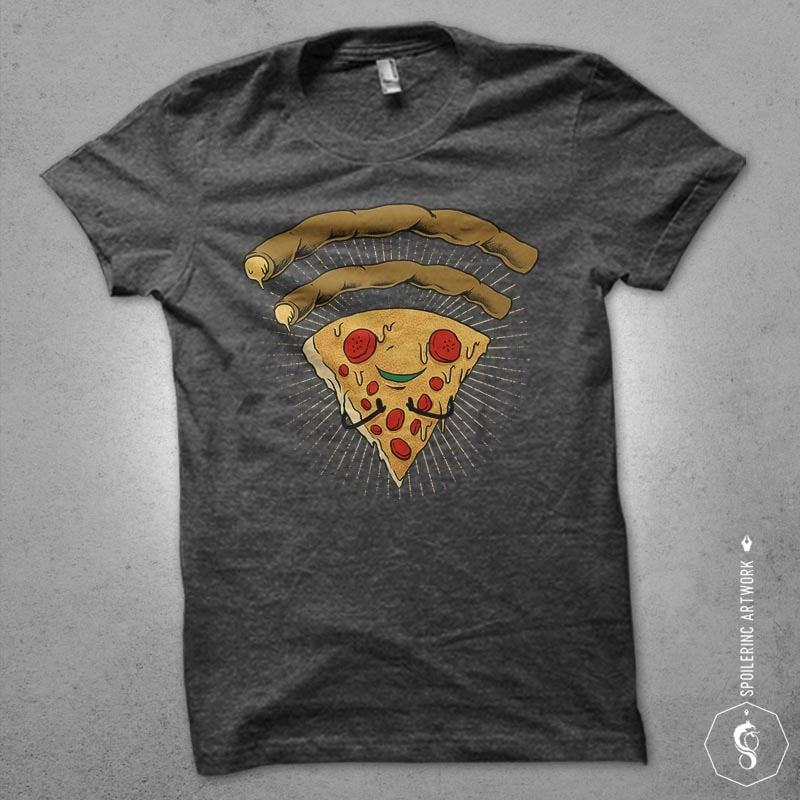 pizza signal Graphic t-shirt design buy t shirt design