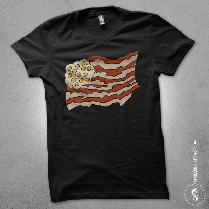 proud to be a bacon Graphic t-shirt design buy t shirt design