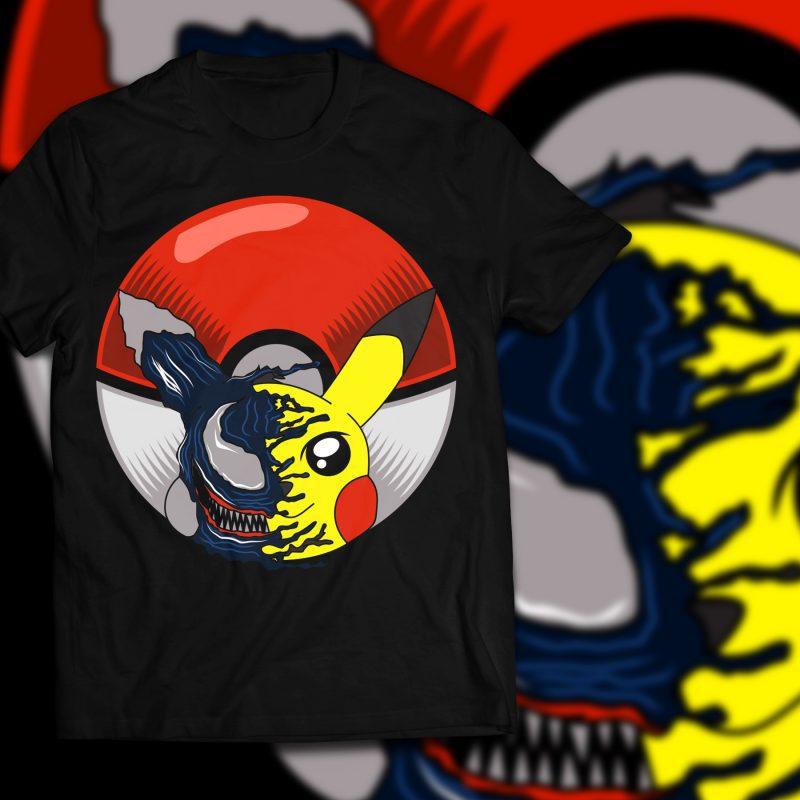Pika venom T-shirt template design vector illustration buy t shirt design