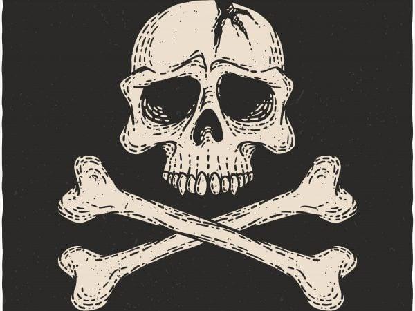 Danger Skull. Vector T-Shirt Design buy t shirt design