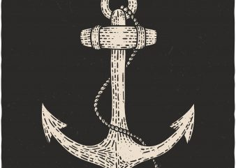 Anchor. Vector T-Shirt Design