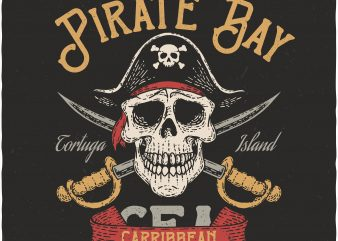 Pirate Bay. Vector T-Shirt Design