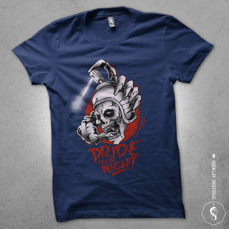 spray with skull Graphic t-shirt design buy t shirt design
