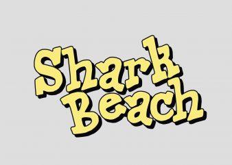Shark Beach buy t shirt design