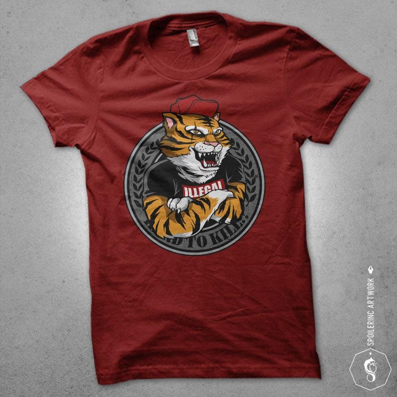 tiger's clan Vector t-shirt design buy t shirt design