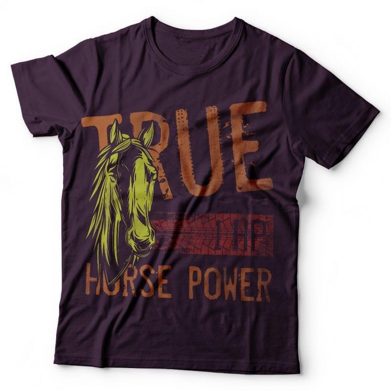 True horse power. Vector T-Shirt Design buy t shirt design