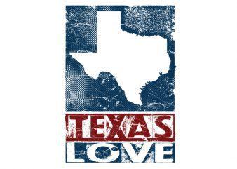 texas love Vector t-shirt design buy t shirt design
