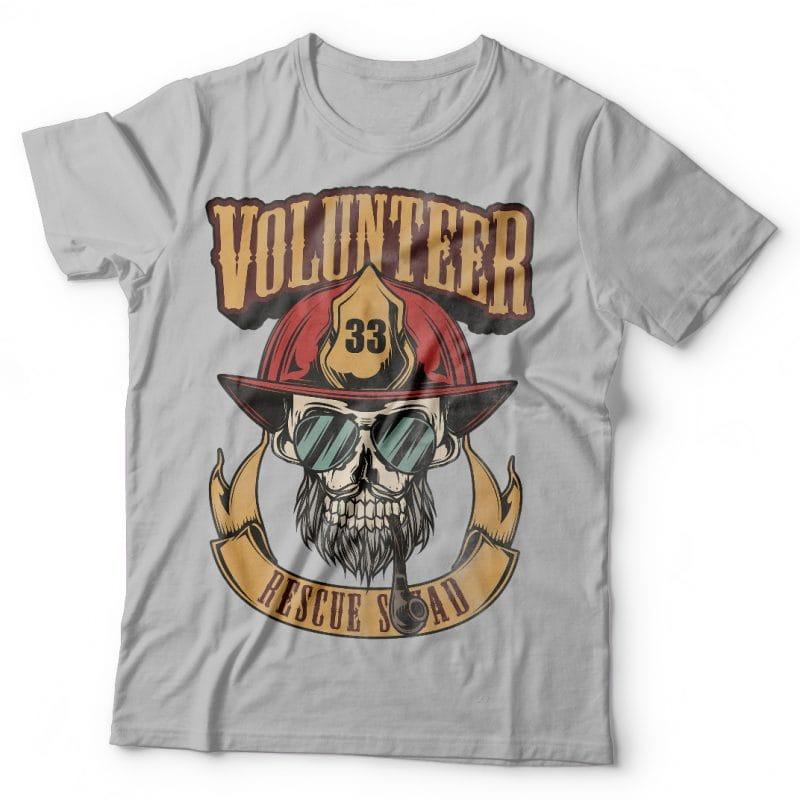Volunteer resque squad. Vector T-Shirt Design buy t shirt design