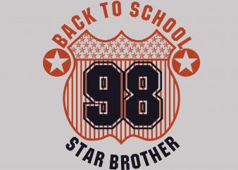 Back To School Star Brother buy t shirt design