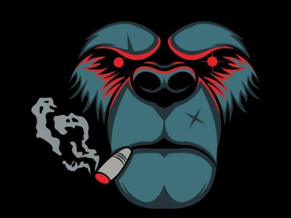 bear smoke t shirt template