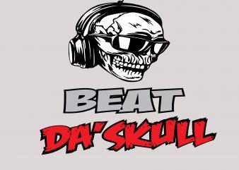 Beat Da' SKull Tshirt Design buy t shirt design