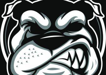 Bulldog buy t shirt design