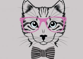 Lady Cat Lover t shirt vector graphic
