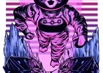 cat in space buy t shirt design