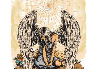crying angel buy t shirt design