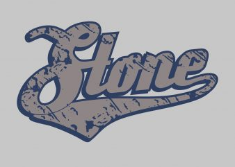 Stone t shirt template vector