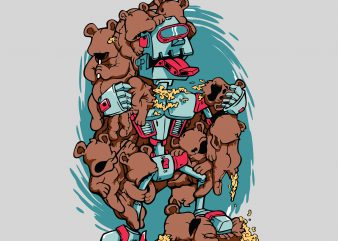 Robo Bear buy t shirt design