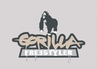 Gorilla Freestyler buy t shirt design