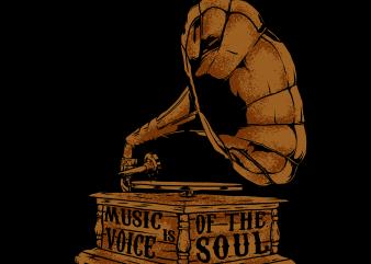 gramaphone t shirt design template