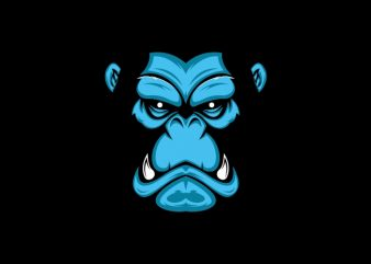 gorilla avatar skin t shirt design template