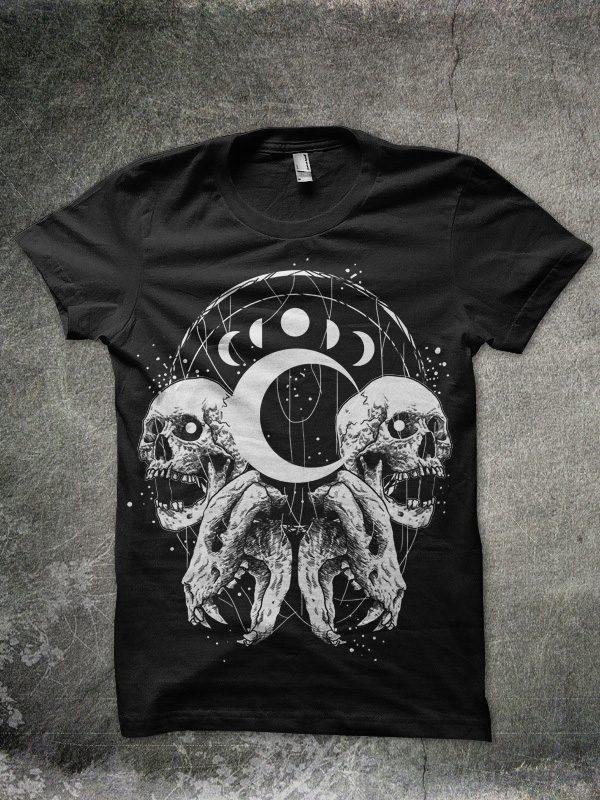 moon tshirt design buy t shirt design