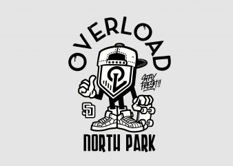 Overload North Park buy t shirt design