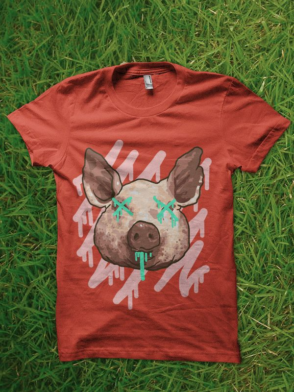 pop pig tshirt design buy t shirt design