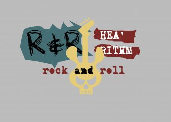 Rock N Roll Music Vector buy t shirt design