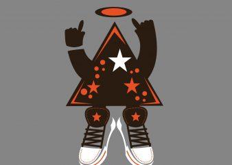 Star Music t shirt template vector