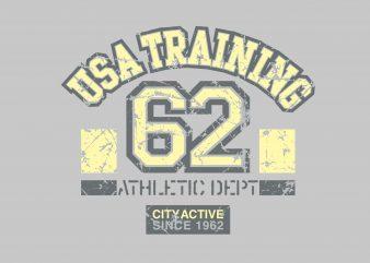 USA Training t shirt vector graphic