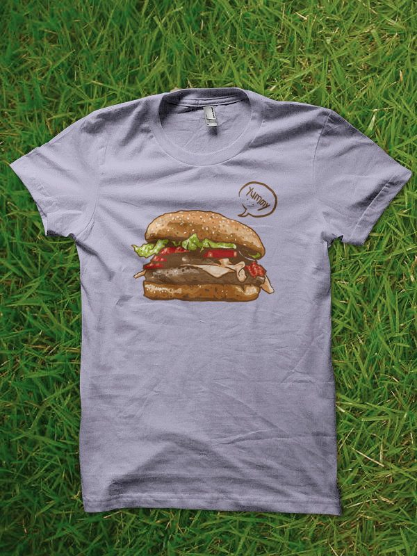 yummy burger tshirt design buy t shirt design