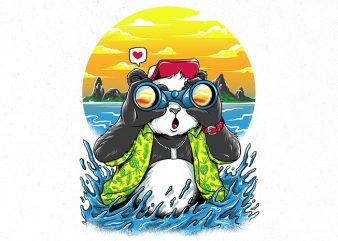 summer panda Graphic t-shirt design buy t shirt design