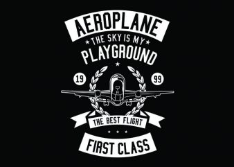Aeroplane Tshirt Design buy t shirt design