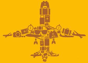 Airplane Tshirt Design