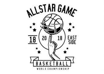 All Star Basketball Tshirt Design buy t shirt design
