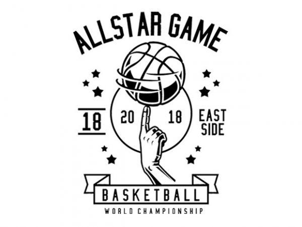 All Star Basketball Tshirt Design buy t shirt design