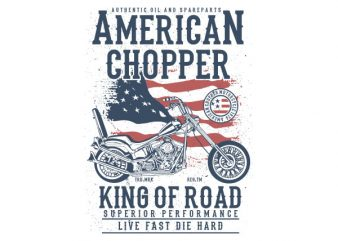 American Chopper Vector t-shirt design