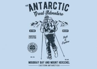 Antarctic Adventure Vector t-shirt design buy t shirt design