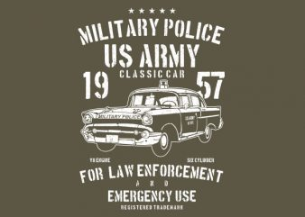 Army Classic Car Vector t-shirt design