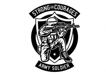 Army Soldier t shirt vector