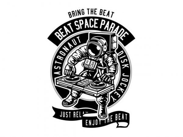 Astronaut Disk Jockey buy t shirt design