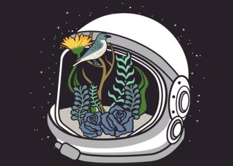 Astronaut Flowers Tshirt Design buy t shirt design