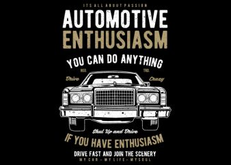 Automotive Enthusiasm Vector t-shirt design buy t shirt design