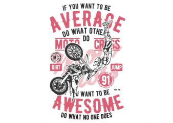 Awesome Motocross Vector t-shirt design