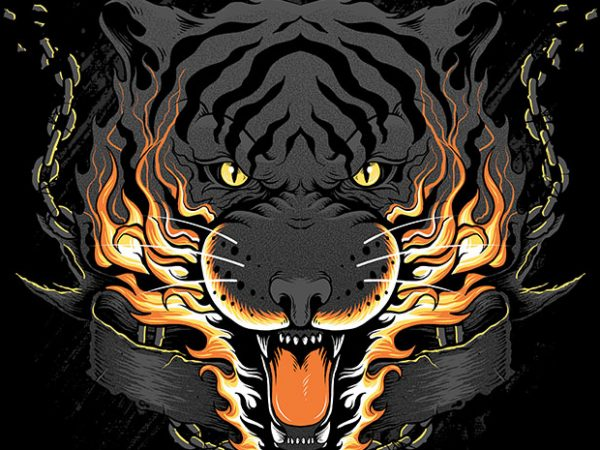 Dangerous t shirt vector illustration