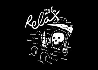 Relax buy t shirt design