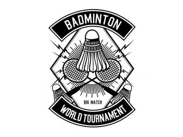 Badminton Tshirt Design buy t shirt design